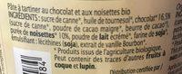 Pate a tartiner chocolat noisette - Ingredientes