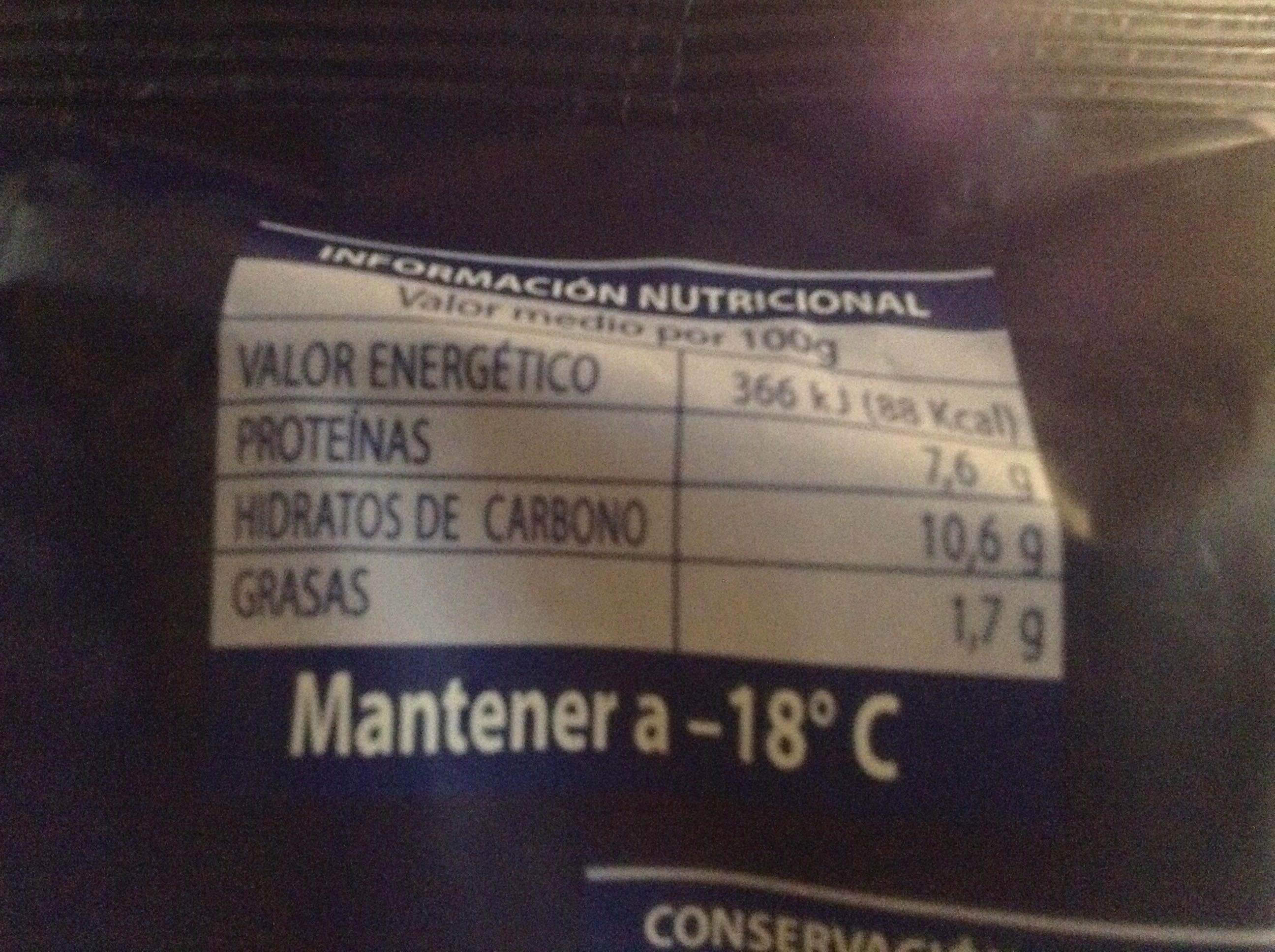 Albóndigas de bacalao - Información nutricional - es