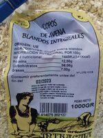 Copos de avena integrales blandos - Nutrition facts - es