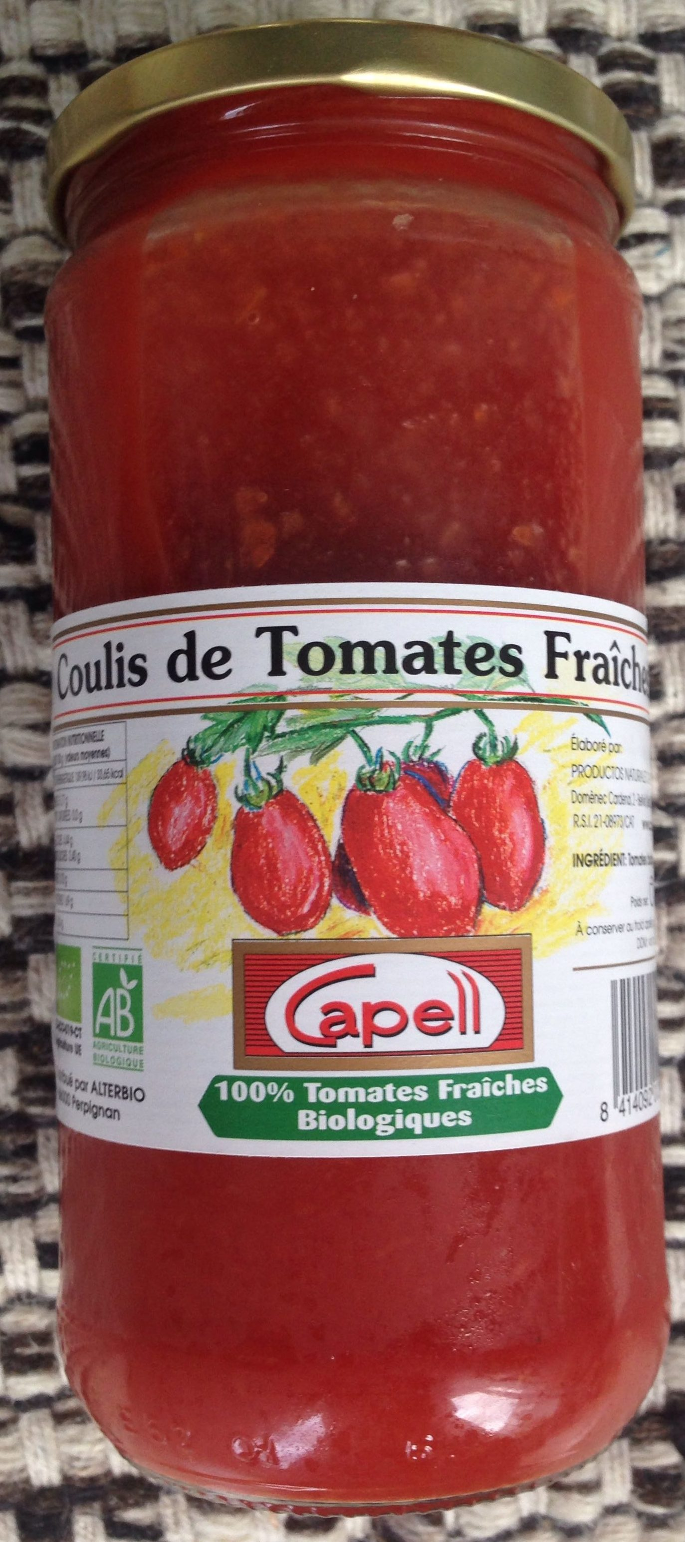 Coulis de Tomates Fraîches - Produit