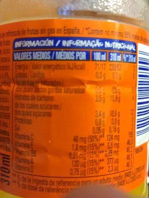 Florida refresco sabor multifrutas naranja, pomelo rojo y lima - Informations nutritionnelles