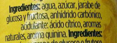 Tónica original - Ingredients - es