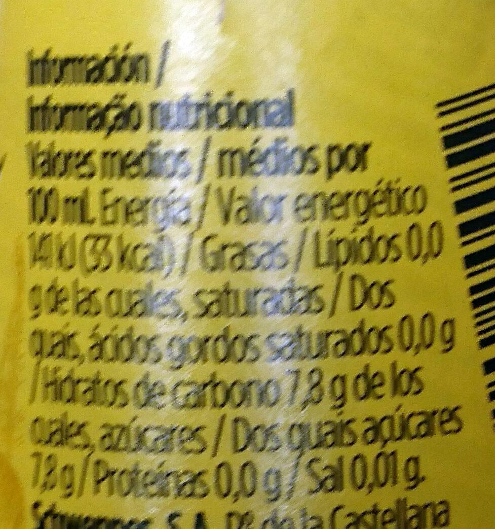 Tónica original - Informació nutricional - es