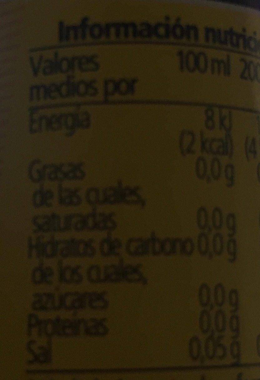 Tónica zero 1l - Informations nutritionnelles - fr