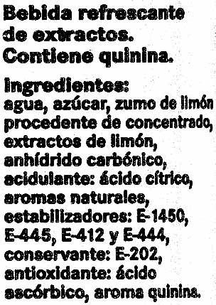 Limón Dry - Ingredientes