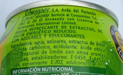 Limón spirit - Ingredientes - es