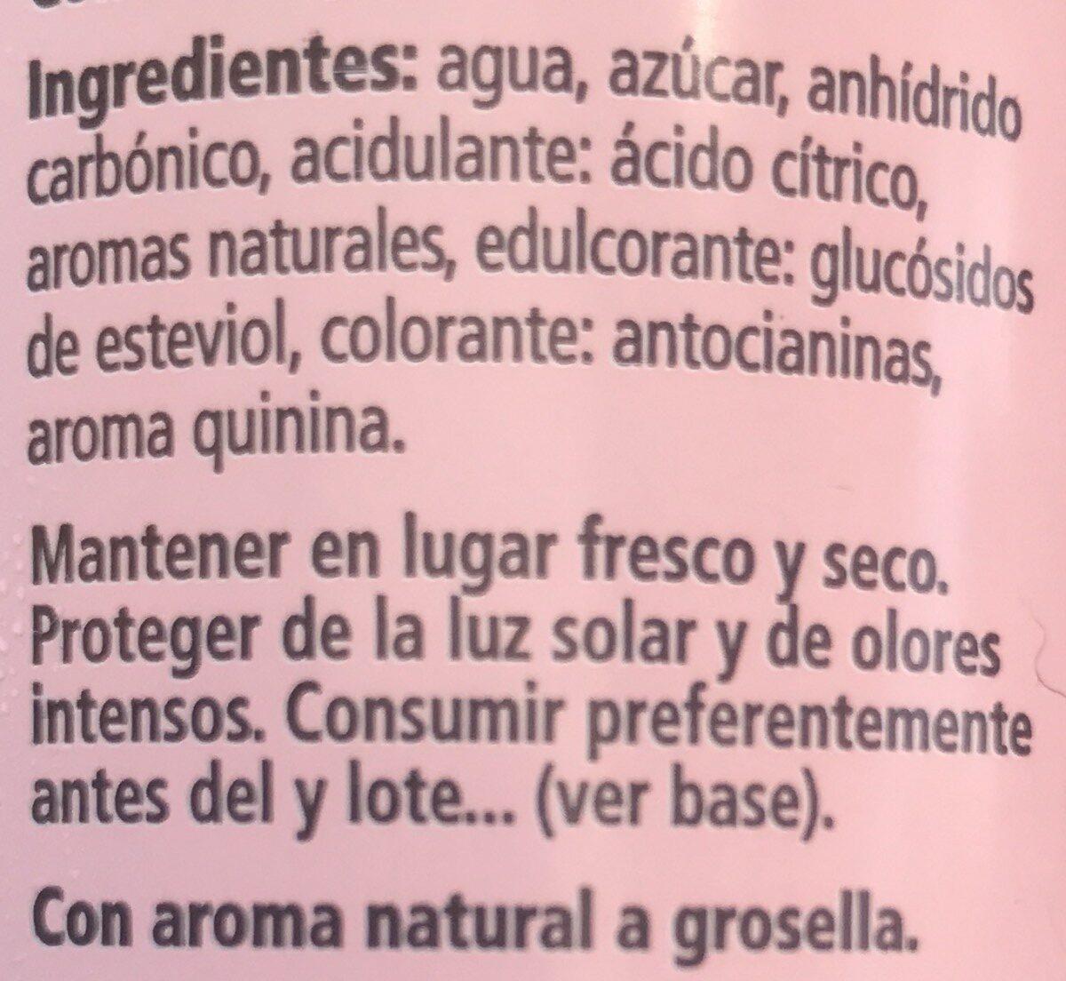 Tónica pink - Ingredientes - fr