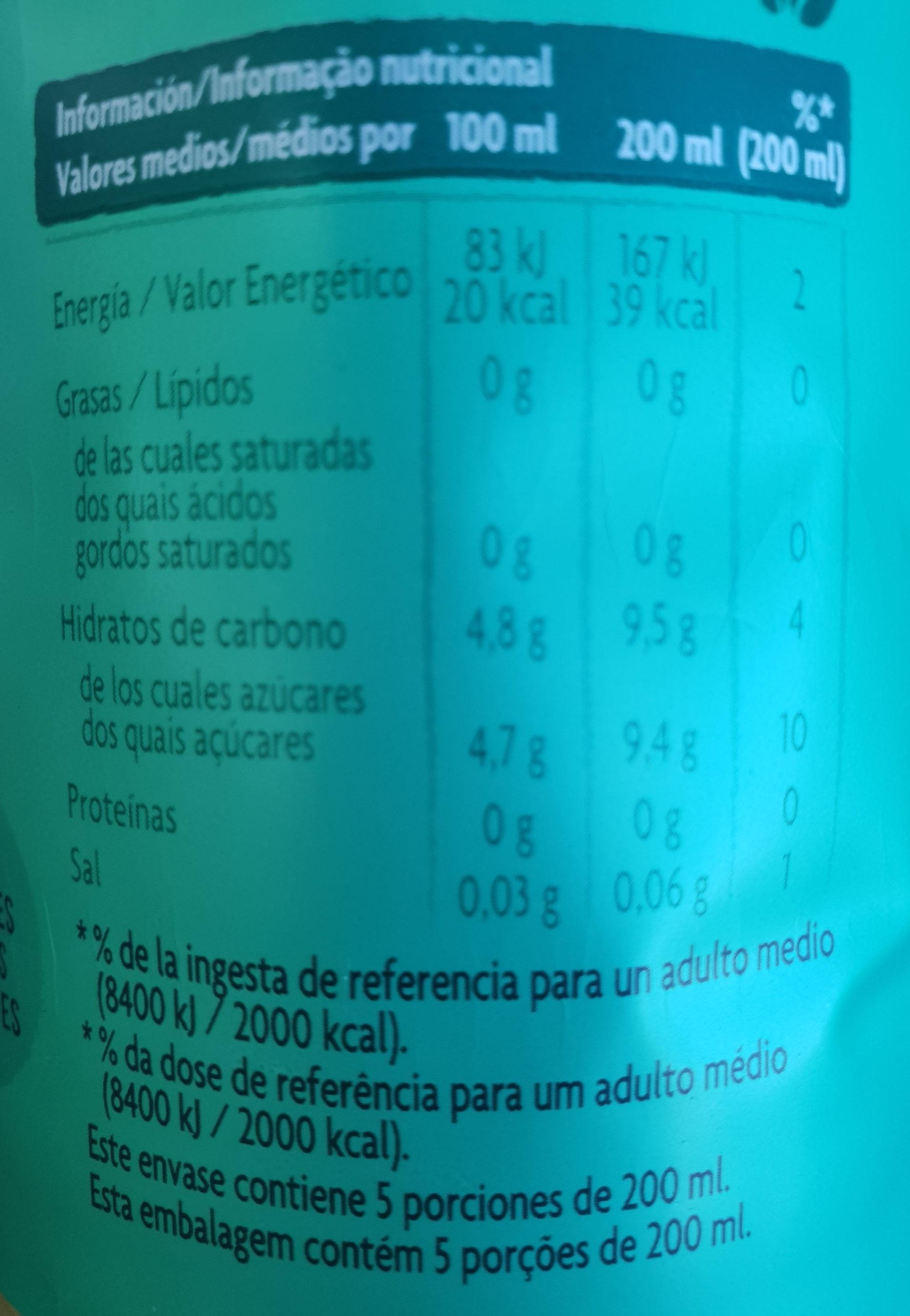 May Tea menthe - Información nutricional - es