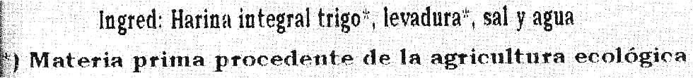 Pico integral bio - Ingrédients - es