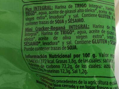 Pico integral bio - Informations nutritionnelles - es