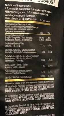 Chips saveur Caviar - Voedigswaarden