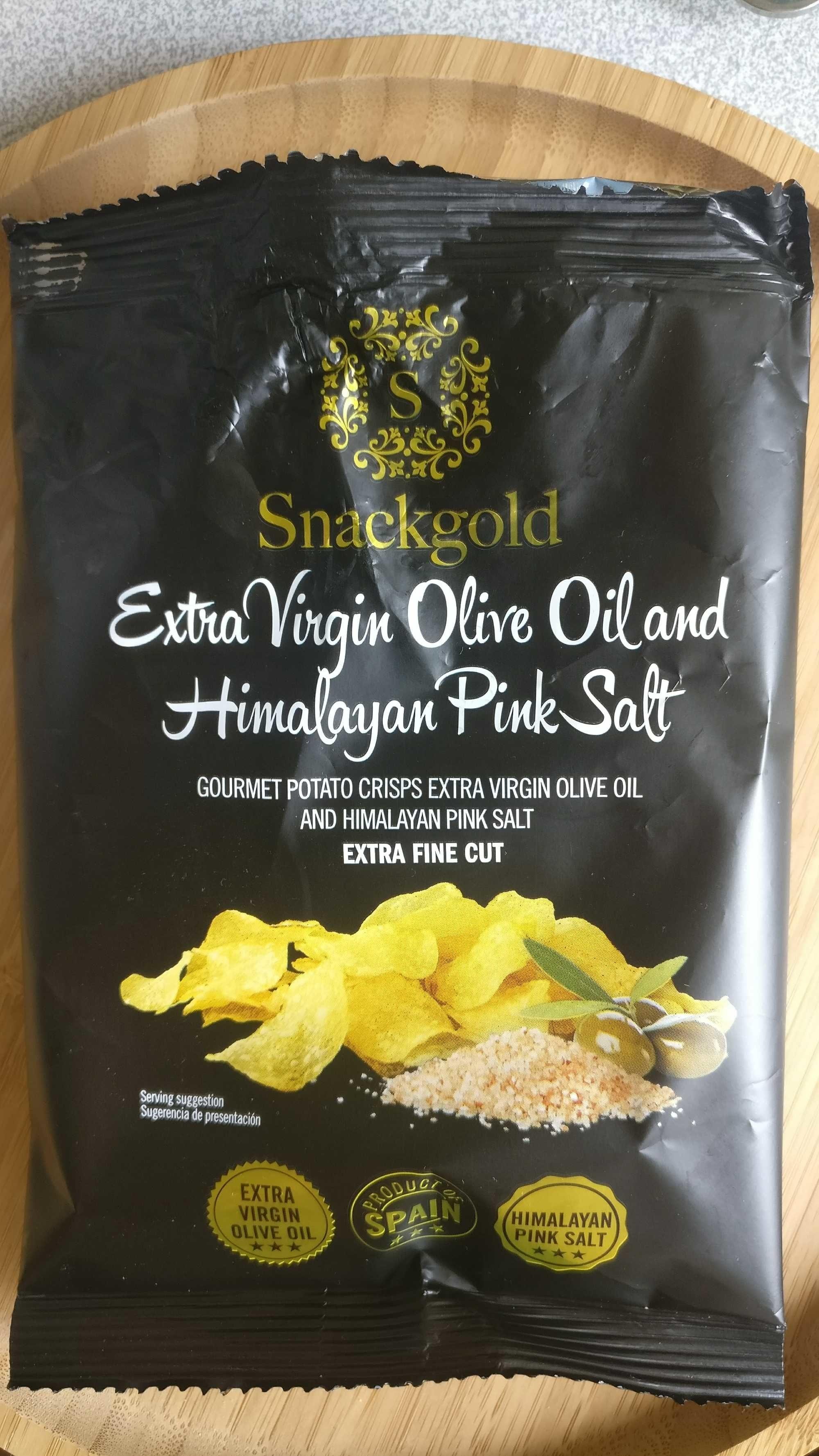 extra virgin olive oil and himalayan pink salt -