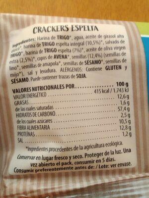 Flor de espelta - Nutrition facts