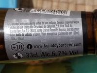 Cerveza negra dorada especial - Ingredients - es