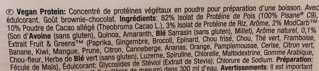 Vegan Protein - Ingrédients - fr