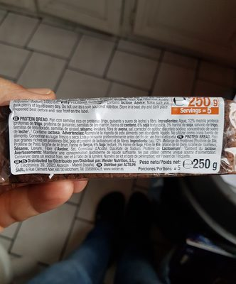 Protein Bread Weider 250GR - Ingrédients - fr
