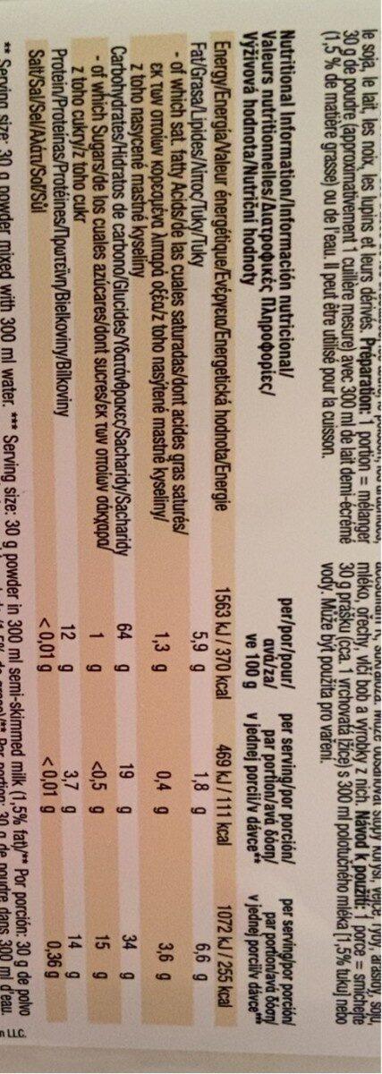 Gourmet oat flour - Nutrition facts - es