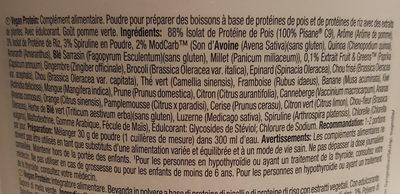 Weider Vegan Protein Manzana Verde 750GR - Ingredients