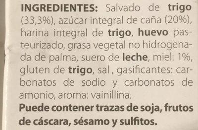 Galletas fibra activa y miel - Ingredients - es