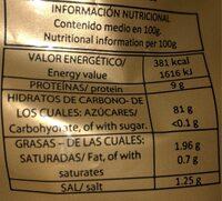 Rosquillas y picos - Información nutricional - es