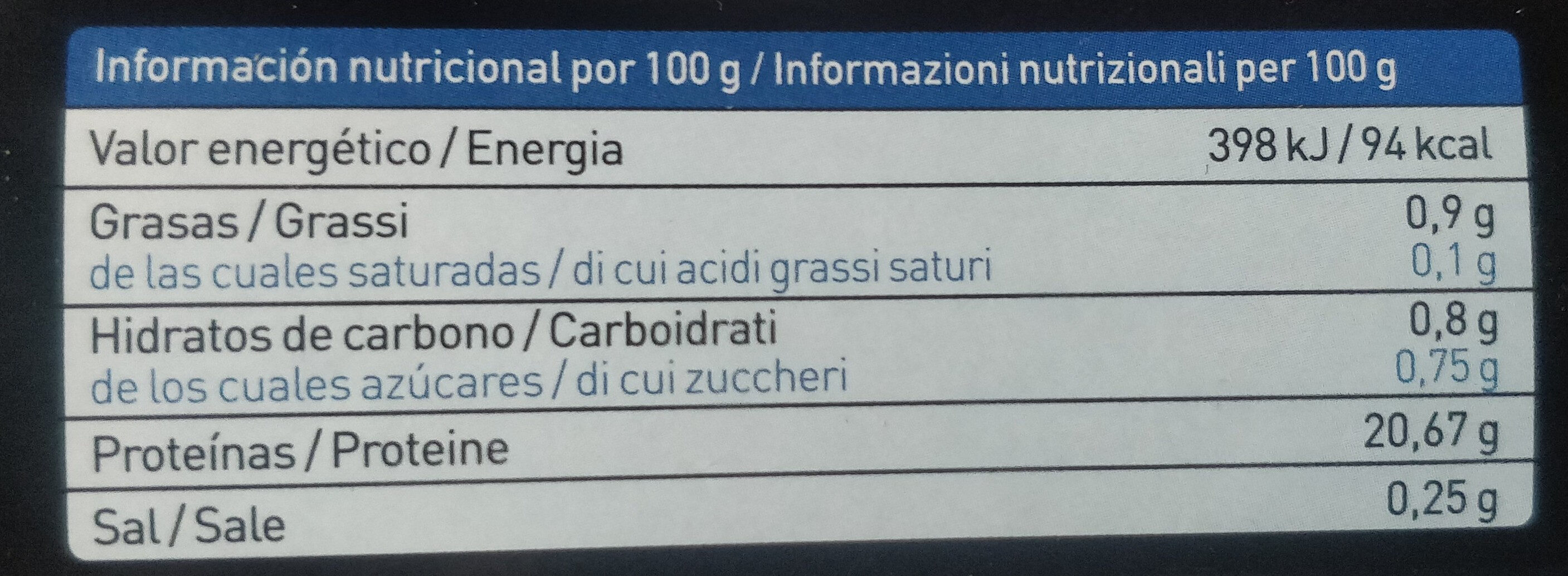 Gambón gambero argentino - Informations nutritionnelles - it