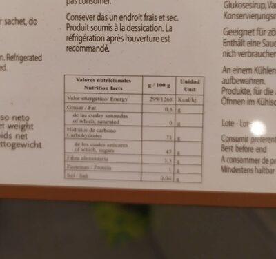 Marron glacé - Informations nutritionnelles - es