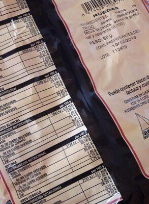 Ruedas - Nutrition facts - es
