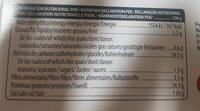 Legum 99 - Snack de legumbres - Información nutricional