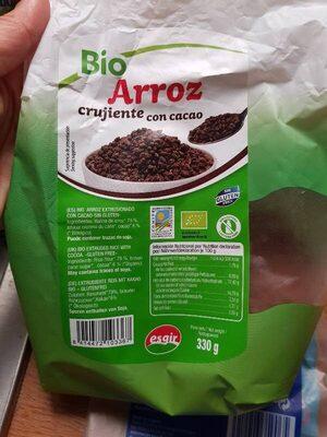 arroz crujiente con cacao