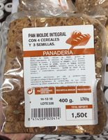 Pan molde integral con 4 cereales y 3 semillas - Product