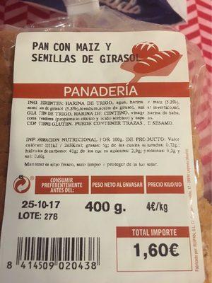 Pan con maiz y semillas de girasol - Producto