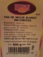 Pan de monde blanco sin corteza - Producto - es