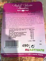 Pan Payés 5 cereales y semillas - Informations nutritionnelles - es