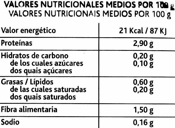 Primeros Brotes Rúcula - Voedigswaarden