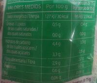 Zanahoria - Información nutricional