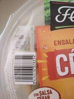 Ensalada completa césar con pollo y queso tarrina - Voedingswaarden - es