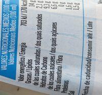 Salsa yogurt - Informations nutritionnelles - es
