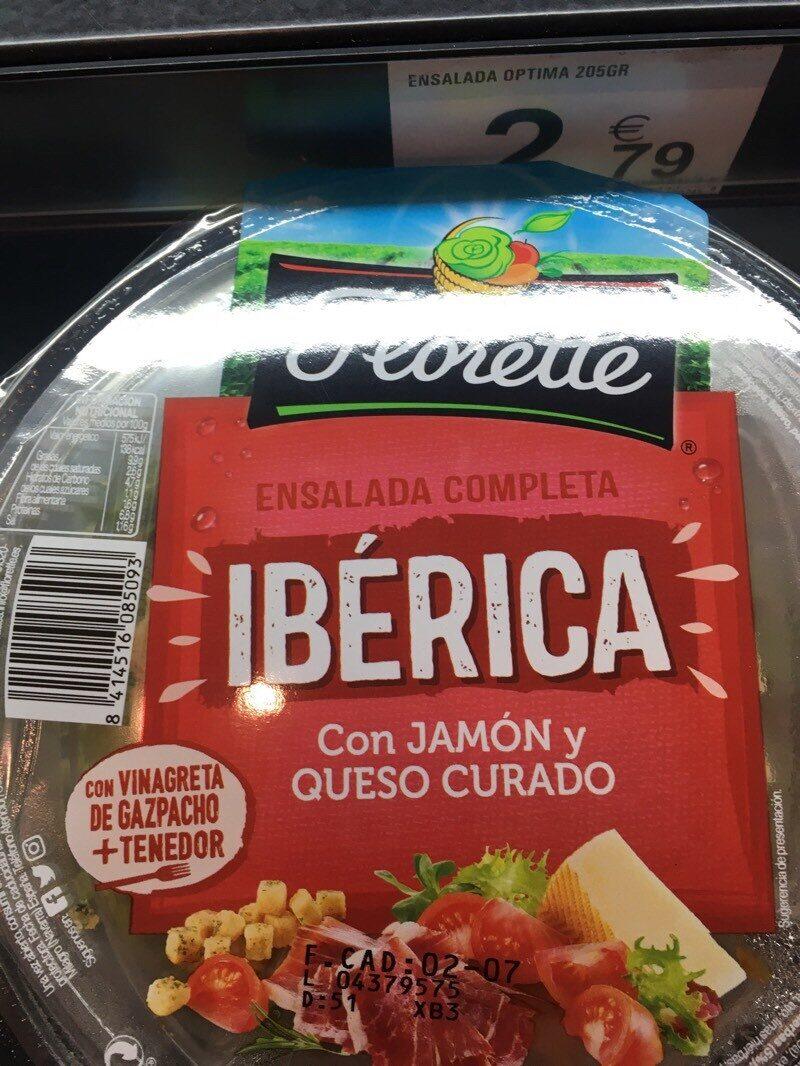 Ensalada completa ibérica con jamón y queso curado tarrina - Producto