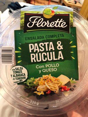 Ensalada completa pasta & rúcula con pollo y queso tarrina - Producte - fr