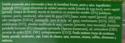 Florette Micro Italiana - Informació nutricional - es