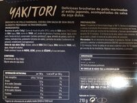 Yakitori - Nutrition facts