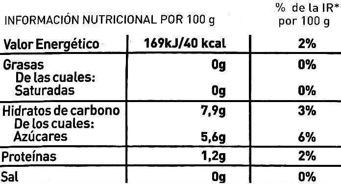 """Cebolla troceada congelada """"La Sirena"""" - Información nutricional - es"""