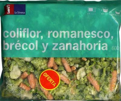 """Mezcla de verduras congeladas """"La Sirena"""" Coliflor, romanesco,  brécol y zanahoria - Producte"""