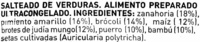 Salteado de verduras congelado - Ingredients
