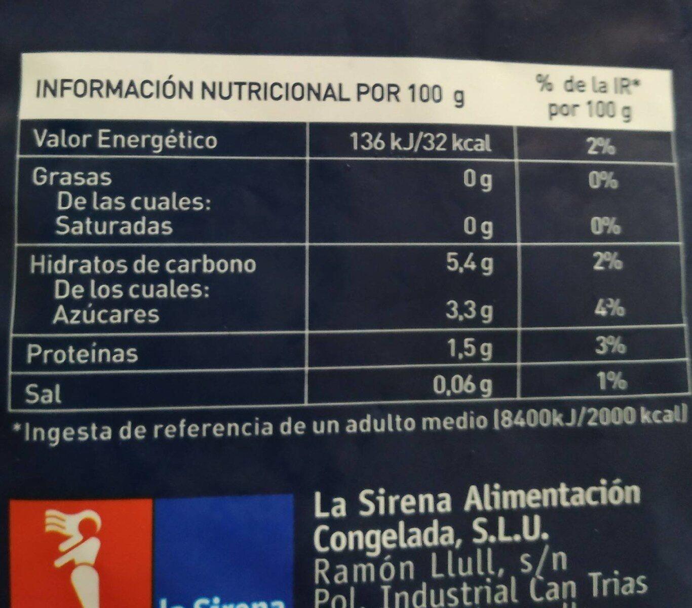Salteado mediterráneo - Información nutricional - es