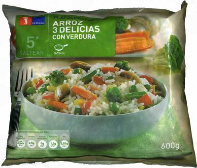 Arroz 3 delicias con verduras congelado - Producto - es