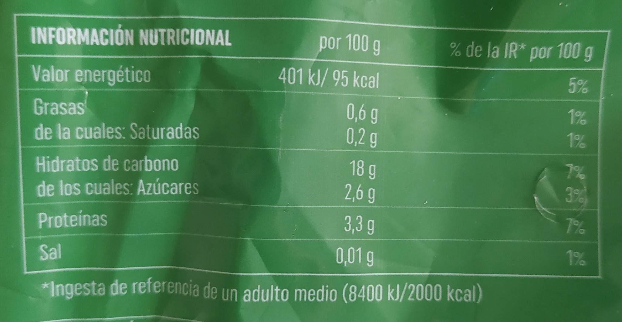 Ensaladilla de arroz - Informations nutritionnelles - es