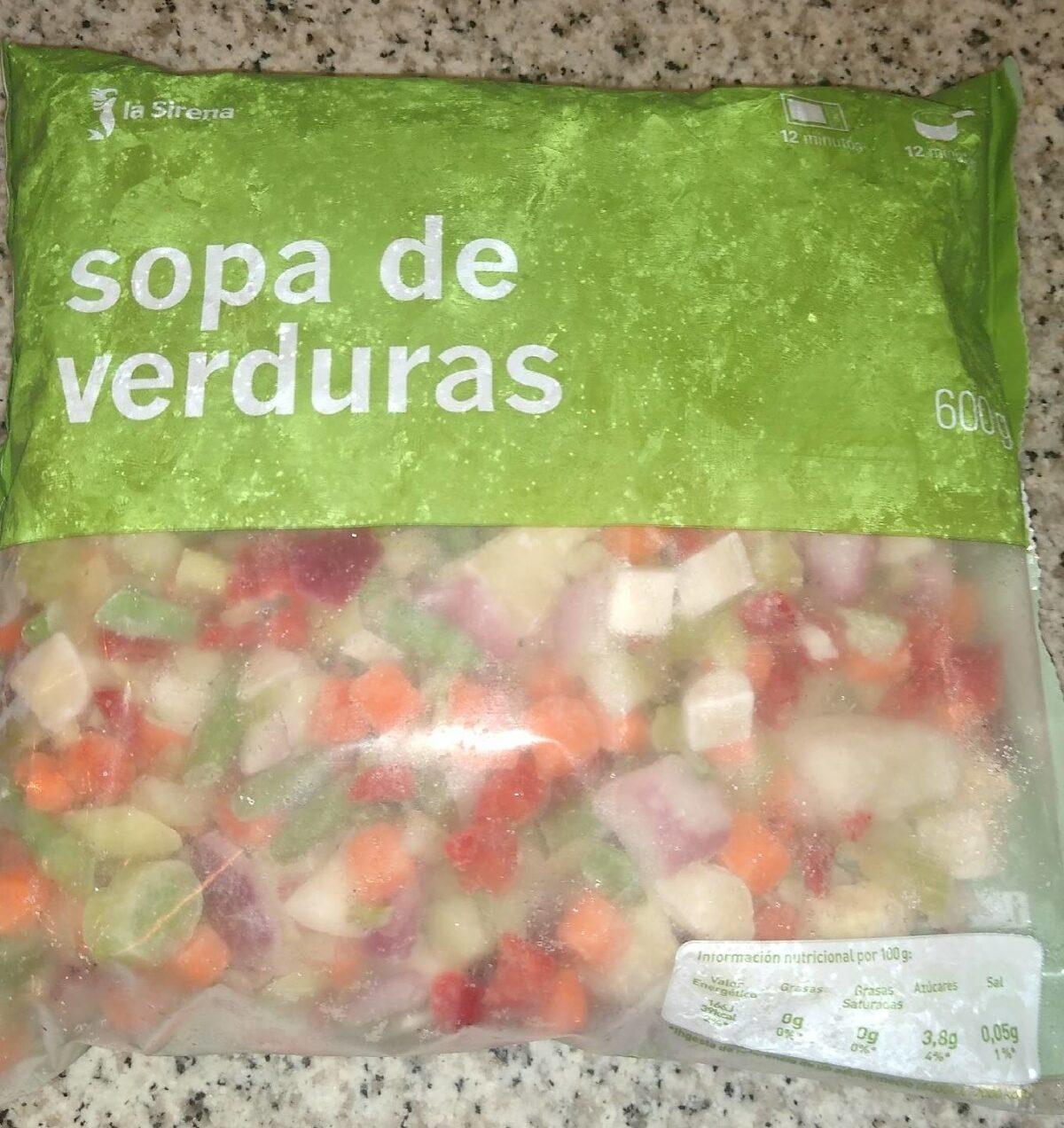 Sopa de verduras - Producto - es
