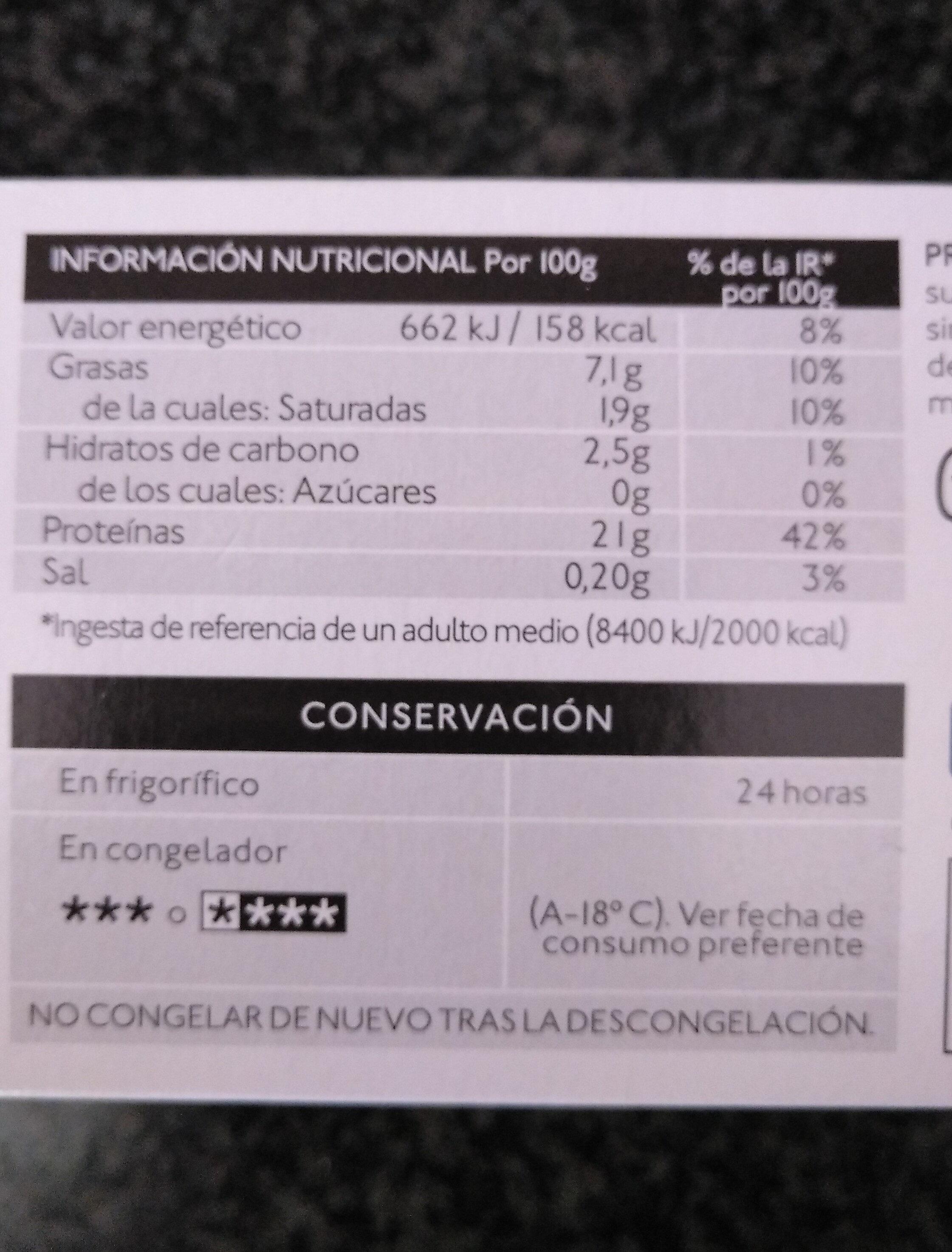 Pollo relleno con ciruelas y piñones - Nutrition facts - es