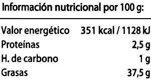 Salsa olivada - Información nutricional - es
